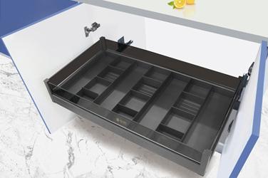 全铝黑晶分隔抽四边篮